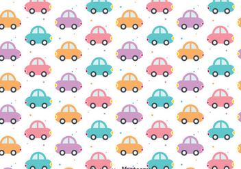 Colorful Cute Cars Pattern - Free vector #386731