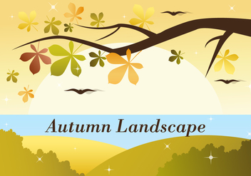 Free Autumn Vector Landscape - Free vector #386741