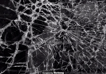 Vector Realistic Texture Of Cracked Glass - Kostenloses vector #386801