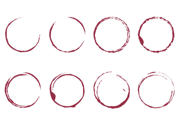 Wine Stain Vector - Free vector #386821