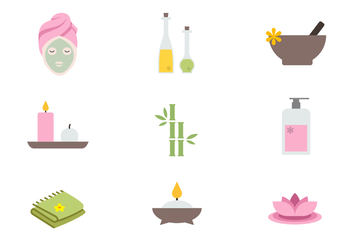 Free Spa Icons Vector - vector #386831 gratis