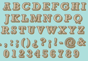 Brown Retro Type - vector #386861 gratis