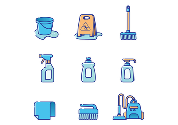 Free Cleaning Supplies Vector - vector gratuit #386871