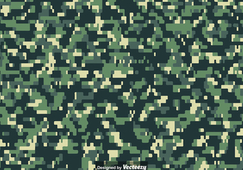 Pixelated MULTICAM Camouflage Pattern Vector - vector #386881 gratis