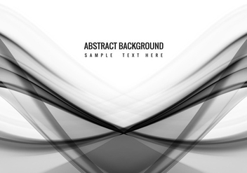 Free Vector Grey Wave Background - бесплатный vector #386901
