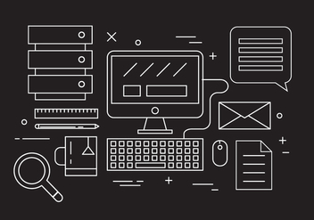 Office Desk Vector - бесплатный vector #387141