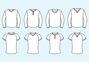 Set Of Raglan Vector - vector #387241 gratis
