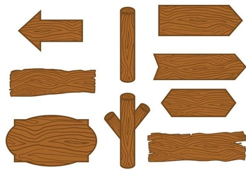 Hand Drawn Wood Logs Vector - vector gratuit #387251