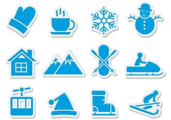 Free Winter Icons Vector - vector #387261 gratis