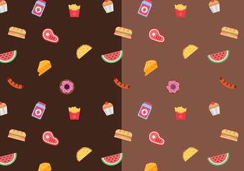 Free Food Pattern Vector - бесплатный vector #387311