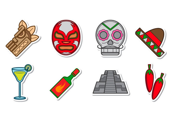 Free Mexican Icon Vector - vector #387331 gratis