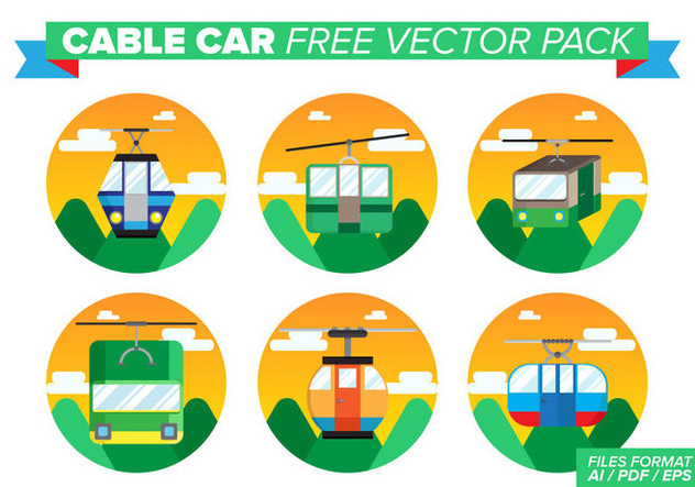 Cable Car Free Vector Pack - vector gratuit #387341