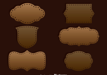 Brown Label Template Vector - Free vector #387351