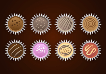 Truffles Chocolates Vector - бесплатный vector #387371
