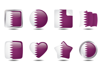 Qatar Flag Collection - Kostenloses vector #387401