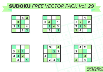 Sudoku Free Vector Pack Vol. 29 - бесплатный vector #387441