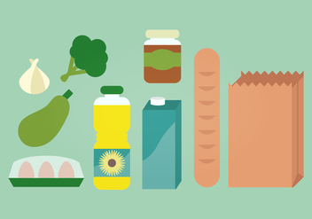 Groceries Vector Illustration - vector #387451 gratis