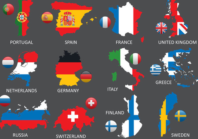 Europe Maps - Free vector #387501