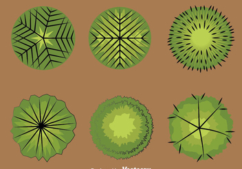 Tree Tops Collection Vector - vector #387591 gratis