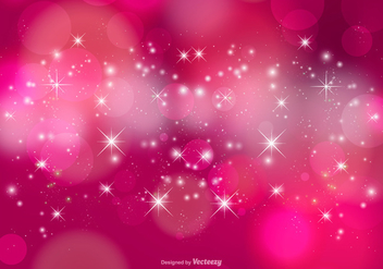 Pink Stardust Bokeh and Stars Background - Free vector #387621
