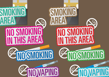 No Smoking Titles - vector gratuit #387651