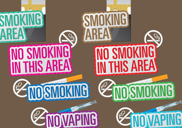 No Smoking Titles - Free vector #387651