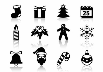 Free Christmas Icons Vector - vector gratuit #387661