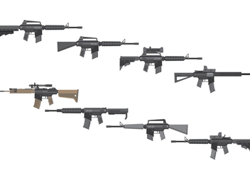 Free Assault Rifles Vector - vector #387671 gratis