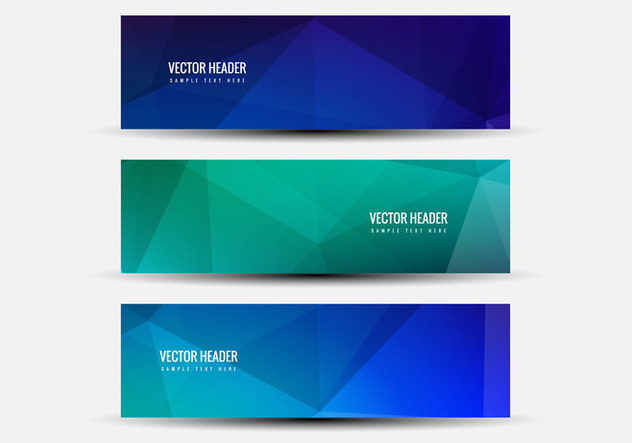 Free Vector Colorful Headers - Free vector #387711
