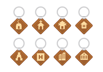 Landmark Souvenier Key Holder Vector - бесплатный vector #387761