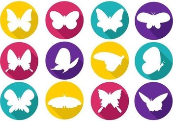 Free Colorfull Papillon Icons Vector - Free vector #387771