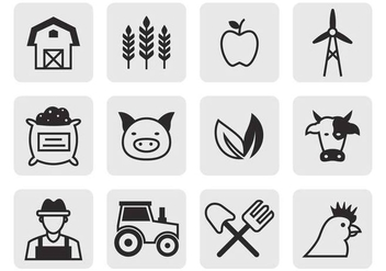 Free Agricultural Icons Vector - vector gratuit #387781