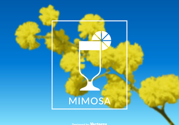 Free Vector Mimosa Label - vector gratuit #387791