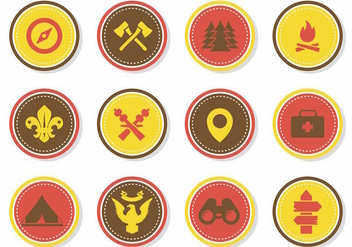 Free Badges Scout Vector - Kostenloses vector #387801