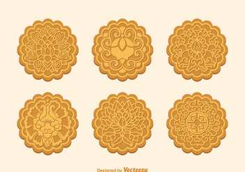 Free Vector Mooncake Set - Free vector #387831