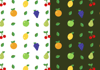 Free Fruit Pattern Vector - vector gratuit #387901