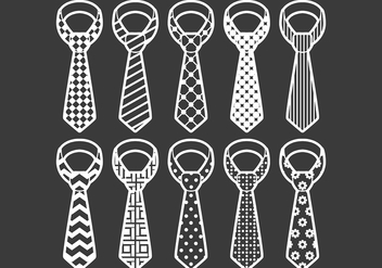 Cravat icons - vector gratuit #387941
