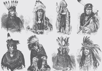 Native American People - vector gratuit #387991