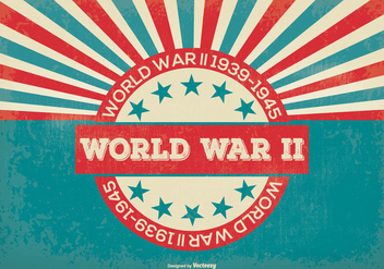 Retro Style World War 2 Background - Kostenloses vector #388271