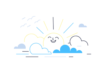 Free Cartoon Sun Vector - vector gratuit #388281