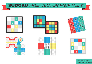 Sudoku Free Vector Pack Vol. 11 - vector #388321 gratis