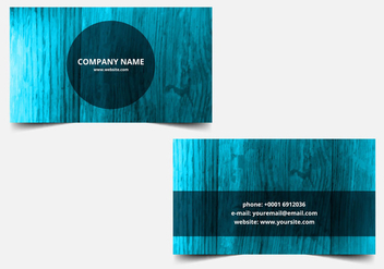 Free Vector Blue Textured Business card - бесплатный vector #388341