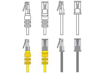 Set Of RJ45 Vector - Free vector #388421