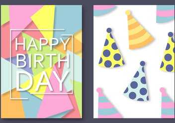 Free Happy Birthday Card Vector - Kostenloses vector #388511