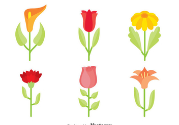 Beautiful Flowers Collection Vector - vector gratuit #388721