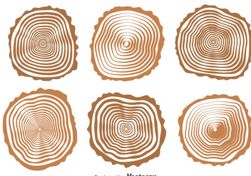 Wood Logs Collection Vector - бесплатный vector #388731