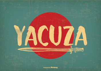 Retro Style Yacuza Illustration - vector #388741 gratis