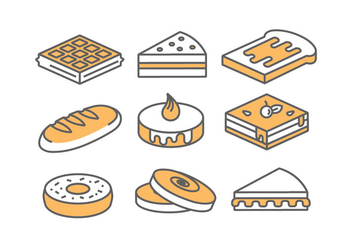Bakery / Cake Icons - бесплатный vector #388761