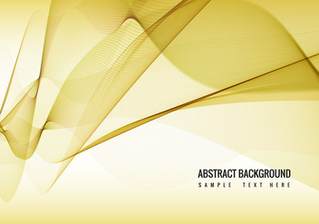 Yellow Vector Wavy Background - vector gratuit #388901