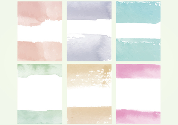 Vector Watercolor Elements - бесплатный vector #388921